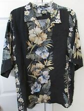 Tommy Bahama Hawaiian Shirt Large 100% Rayon EUC