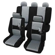 Silver & Black Stylish Car Seat Cover set - For VW  POLO 2009 Onwards - Washable