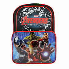 "THE AVENGERS IRON MAN HULK THOR Kids Boys School 16"" Backpack Multi Cargo Bag NW"