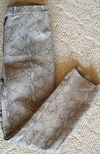 Colebrook & Co. Womens Leather Pants Python Snake Print Lined Gray Size 8
