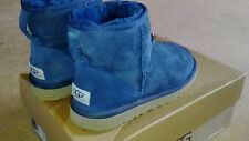 ugg boots mini navy size 5.5 with box