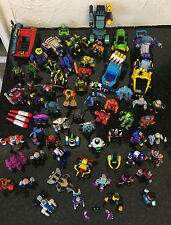 Vintage Job Lot Large amount of Galoob Micro Machines Z-Bots Figures Vehicles Z