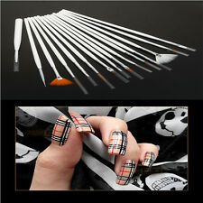 15Pcs Fingernail Design Art Acrylic Nail Art Colored Drawing Pen Tips Tools kit