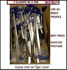 METAL F CLAMPS 50 X 300 MM 18pc IDEAL FOR BUILDING WORK *CHEAPEST*