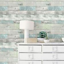 NUWALLPAPER BEACHWOOD PEEL & STICK WALLPAPER FEATURE WALL WOOD EFFECT FREE P+P