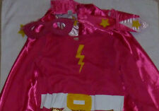 NEW PINK POTTERY BARN KIDS GIRL SUPERHERO SUPERGIRL HALLOWEEN COSTUME 3T
