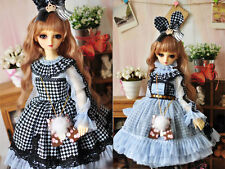 1/3 bjd sd13 girl doll baby blue color dress outfits super dollfie luts #SD-126L
