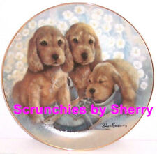 Puppy Pals Time Out Dog Collector Plate Danbury Mint Retired