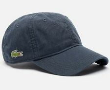 Lacoste Roddick Classic Side Croc Back Tone Solid Hat Cap $50 NWT Navy