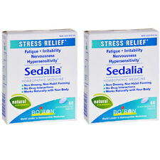 2 Pack Boiron Sedalia Stress - 60 Tablets Each