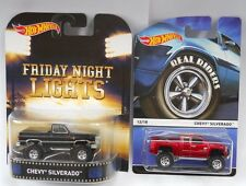 Hot Wheels Lot of two Chevy Silverado Trucks Real Riders & Friday Night Lights