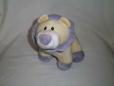 2004 WISHPETS Plush SHAYNA LION Yellow Purple Rattles Baby Stuffed Animal Toy