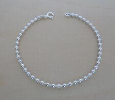 """925 Sterling Silver Ball, Bead Bracelet, 19 cm / 7.5"""" Long"""