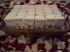 "WINTER WEDDING TISSUES X60 ""TEARS OF JOY""  IN BASKET WITH SNOWFLAKE CHARMS"