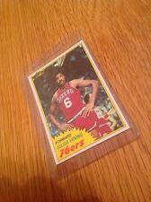 Julius Erving 1980s Topps Dr J NBA Basketball Trading Card Vintage
