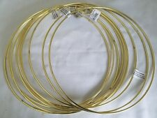 "Lot of 10 Gold Metal Brass Macrame Craft Dreamcatcher Rings 10"" Inch Diameter"