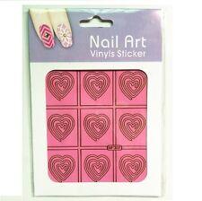 Heart Cyclone DIY Nail ART Stencil Stickers