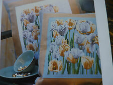 [TG1] X Stitch Chart-Mauve and Orange Tulips by Thea Gouverneur
