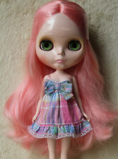 """Takara 12"""" Neo Blythe Doll from Factory Nude Doll Pink long hair SD12+doll stand"""