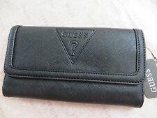 NWT GUESS PEAK Clutch Wallet Purse Handbag Bag BLACK
