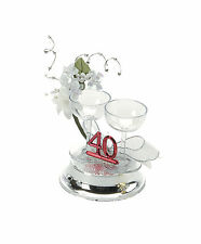 40th Wedding Anniversary Cake Decorations Ruby Wedding Cake decoration topper