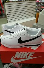 NIKE CORTEZ BASIC LEATHER. White / Black MEN US Size 12
