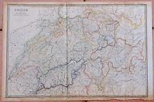 1857, Carte de la SUISSE - 53 x 80 cm.- Andriveau Goujon