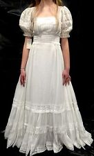 RARE! NWT Vintage House Of Bianchi Boho/Hippie Gauzy Floaty Wedding Dress XS #19