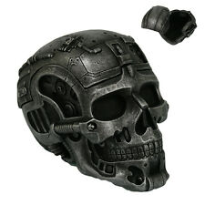 CYBORG ROBOT SKULL SKELETON FIGURINE STATUE TRINKET / JEWELRY  BOX