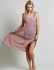 NEW Free People Intimately Romance In The Air Slip Dress Sunset Purple SMALL