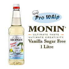 MONIN Coffee Cocktail Syrups - 1L SUGAR FREE Vanilla - USED BY COSTA COFFEE