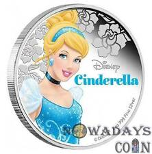 Niue 2015 $2 Cartoon Disney Princess - Cinderella Proof Silver Coin 1Oz