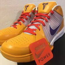Nike Zoom Kobe IV 4 Xmas Christmas ID sz 13 White Yellow Purple Chaos Red OG V I