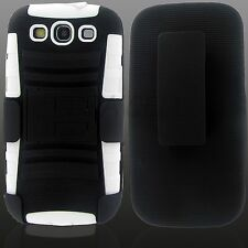 For Samsung Galaxy S5 S6 S7 Edge On5 Rugged Hybrid Phone Case + Holster Clip