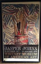 JASPER JOHNS SIGNED EXHIBITION FRAMED POSTER WHITNEY MUSEUM SAVARIAN COFFEE 14 ½