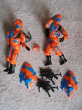 G.I. Joe 2 Alley Viper Flaw Lot  Action Figure Toy Some 6  Accessories 1989
