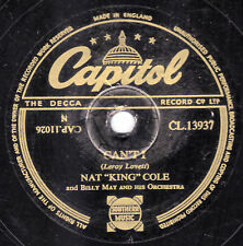 "1953 UK #6 NAT ""KING"" COLE 78 CAN'T I / SMALL TOWNS ARE SMILE TOWNS  CL 13937 EX"