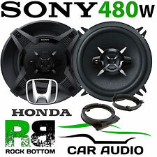 Honda Jazz Upto 2008 SONY 13cm 480 Watts 3 Way Front Door Car Speaker Kit