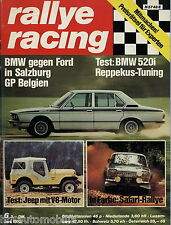 Rallye Racing 6/73 1973 BMW 520i Reppekus Ford Escort RS 2000 Jeep CJ-5 Camaro