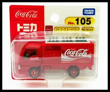 TOMICA #105 COCA-COLA ROUTE TRUCK ISUZU ELF TOMY DIECAST CAR NEW RED