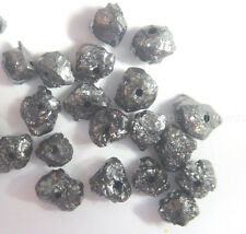 2.03 carat natural black uncut rough diamond beads from africa NR