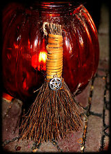 ~*Coven BLESSED! Mini CINNAMON WITCH Besom BROOM*~ STRENGTHEN MAGICK NOT HAUNTED