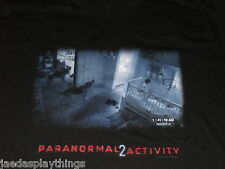 Paranormal Activity 2 Promo T Shirt Size XL Black Nursery Dog Scene T-Shirt