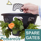 6xSPARE EASY FILL HANGING BASKET CLIPS (BLACK) GATES