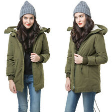 Women's Hooded Coat Women Overcoat Jacket Trench Warm Parka Winter Long Outwear