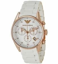 EMPORIO ARMANI AR5919 MENS CHRONOGRAPH MENS WHITE WRIST WATCH