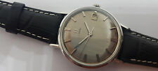 USED VINTAGE OMEGA GREY DIAL DATE MANUAL WIND MAN'S WATCH