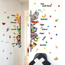 Animal Fruit Words Wall Decal Nursery Boy Girl kids baby Room Vinyl Art Stickers