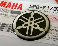YAMAHA 100% GENUINE 25mm TUNING FORK BLACK/SILVER DECAL EMBLEM STICKER BADGE