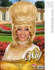 Ladies Blonde Baroness Wig Pantomime Dame Tall Beehive Deluxe Fancy Dress